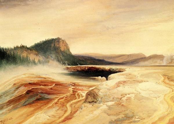 Giant Blue Spring Yellowstone